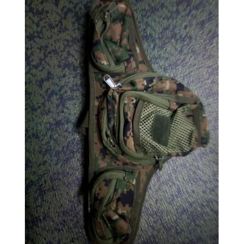 Сумка-кабура для скрытого ношения оружия #зеленая цифра