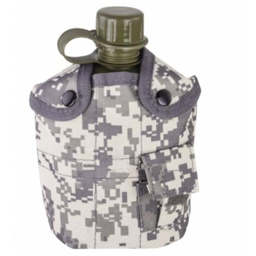 Армейская фляга с кружкой-котелком в чехле камуфляжа Acu