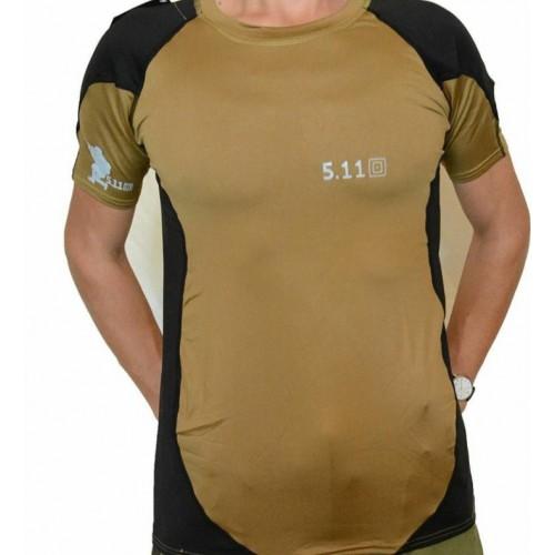 Комбинированная футболка 5.11 холодок #песочный