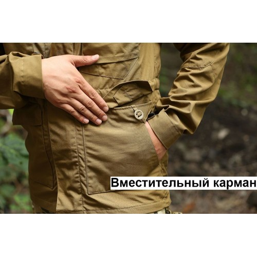 КУРТКА (ВЕТРОВКА) ТАКТИЧЕСКАЯ М65 - ЧЕРНАЯ