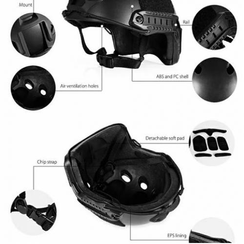 Ops-Core Fast Base Jump Helmet Black