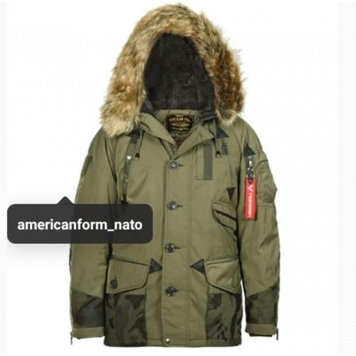 Зимняя куртка 726 (Аляска) #хаки