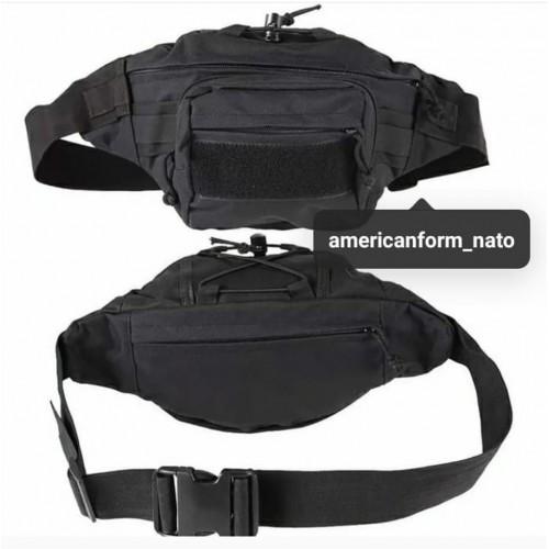 Поясная тактическая сумка #черный