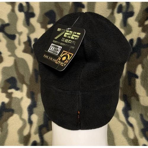 Тёплая тактическая шапка 726 из флиса.#черный