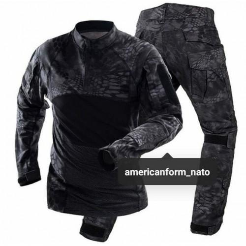 Тактическая форма Combat Shirt #черный криптек