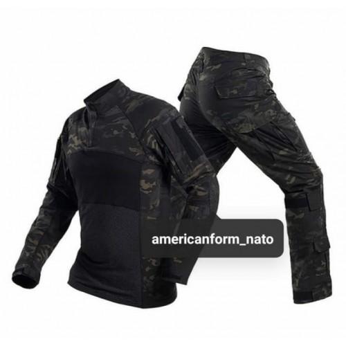 Тактическая форма Combat Shirt #чёрный-мультикам