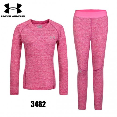 Женское термобелье  under armour #розовое